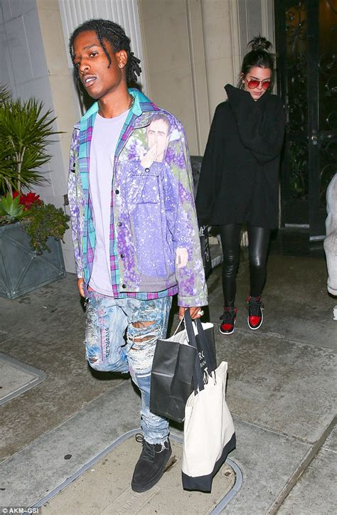 Kendall Jenner takes A$AP Rocky for a spin in her Ferrari ...