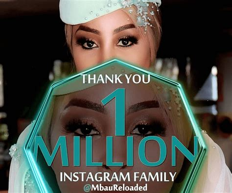 Khanyi Mbau celebrates 1 million Instagram followers