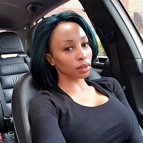 Khanyi Mbau Sports Green Hair | People Magazine