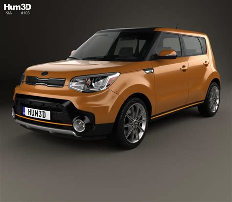 Kia Soul Turbo 2017 3D model   Hum3D