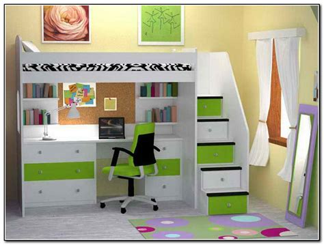 Kids Bed Design : Kids Loft Bed With Desk Underneath Play ...