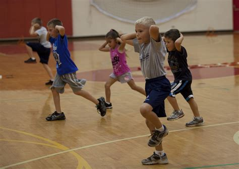 Kids HITT Semper Fit: Children aboard Marine Corps Base ...