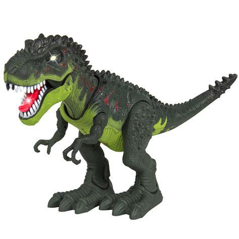 Kids Toy Walking T Rex Dinosaur Toy Figure With Lights ...