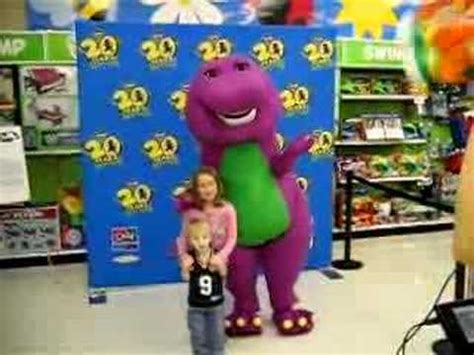 Kids visit Barney   YouTube