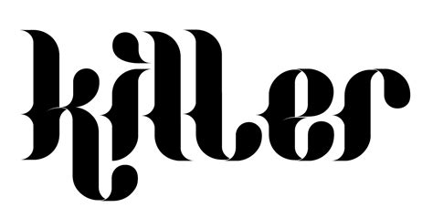 Killer: a gothic stencil font in the circus tradition ...