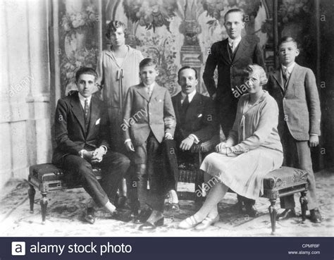 King Alfonso XIII and his wife Victoria Eugenie with their ...