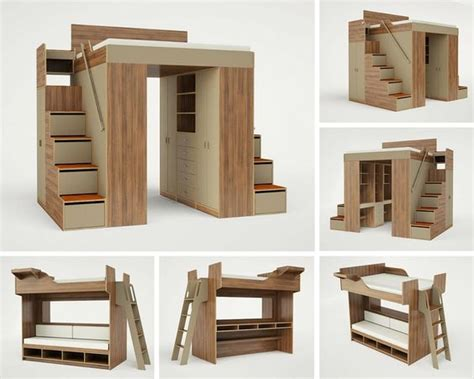 king and queen size loft beds for adults | Ideias para a ...