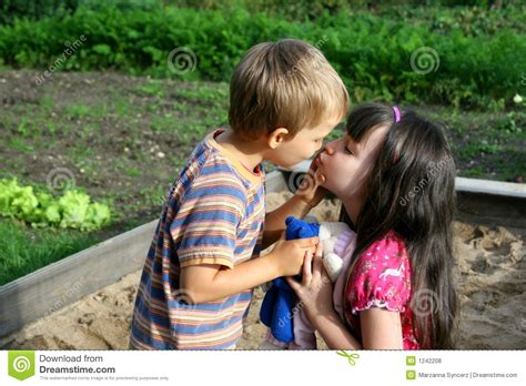 Kissing Children Royalty Free Stock Photos - Image: 1242208