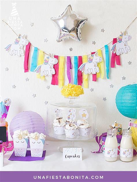Kit de fiesta - unicornios   Fiestas