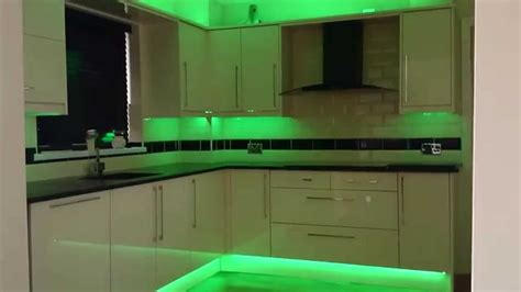 kitchen LED strip lights - YouTube
