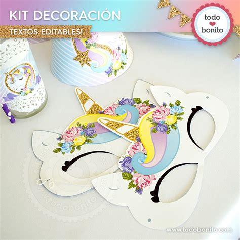 Kits imprimibles de Unicornio