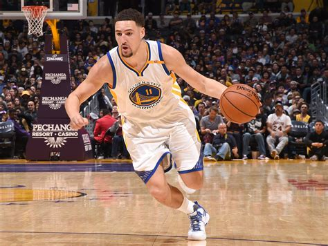 Klay Thompson Throws Paper Airplane During Press ...