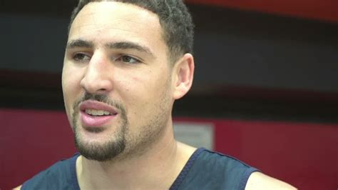 Klay Thompson to Bogut:  Watch those elbows    ESPN Video