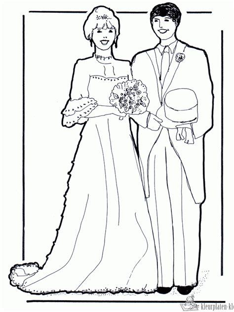 Kleurplaten trouwen | kleurplaten kleurplaat.nl