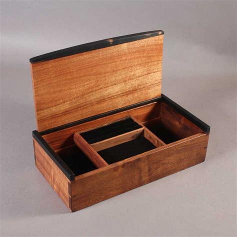 koa dovetailed jewelry boxes