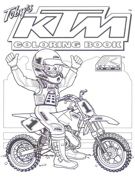 KTM Dirt Bike Coloring Pages … | blake