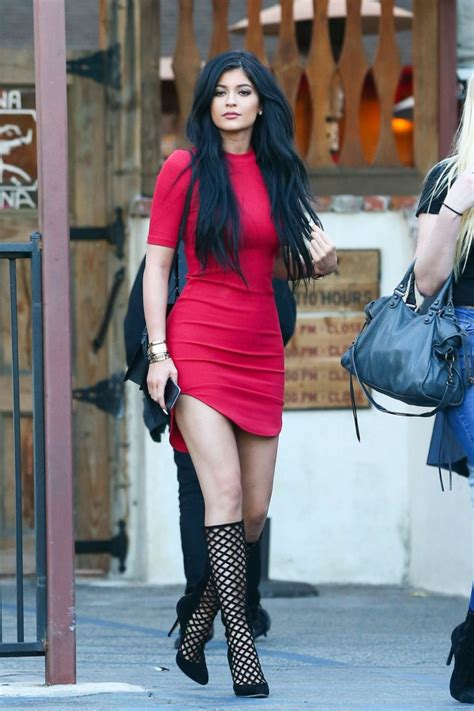 Kylie Jenner in Red Mini Dress  23   GotCeleb