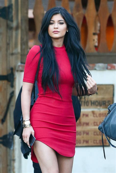 Kylie Jenner in Red Mini Dress at Sagebrush Cantina in ...