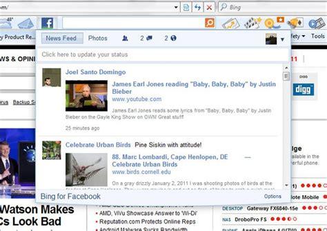 La barra de herramientas Bing ahora integra a Facebook ...