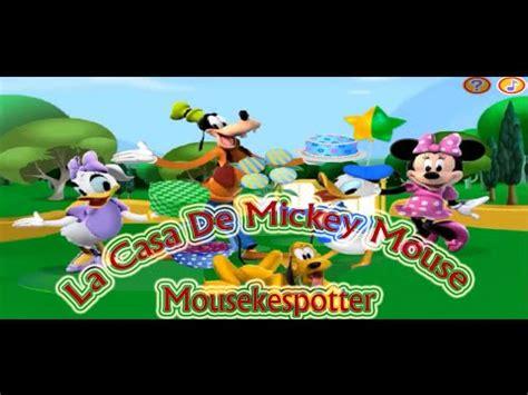 La Casa de Mickey Mouse en Español   Juego Mousekespotter ...