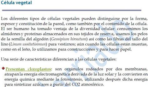 La célula y los tejidos vegetales   Apuntes y Monografías ...