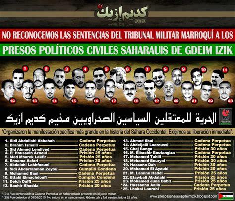 La condena a los presos políticos saharauis de Gdeim Izik ...