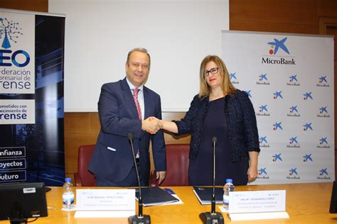 La Confederación Empresarial de Ourense y MicroBank ...