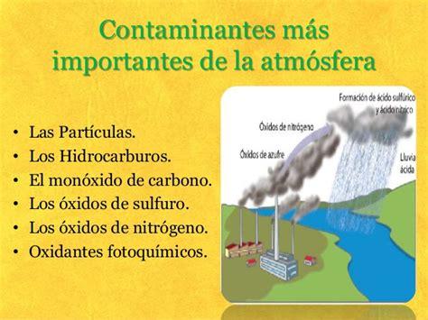La contaminación de la atmósfera