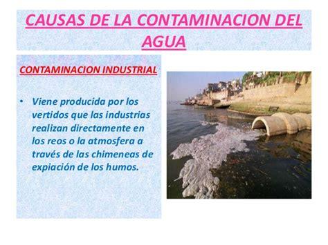 La contaminacion del agua ...   diana   ...