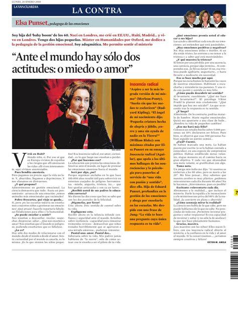 La Contra de la Vanguardia. Elsa Punset.