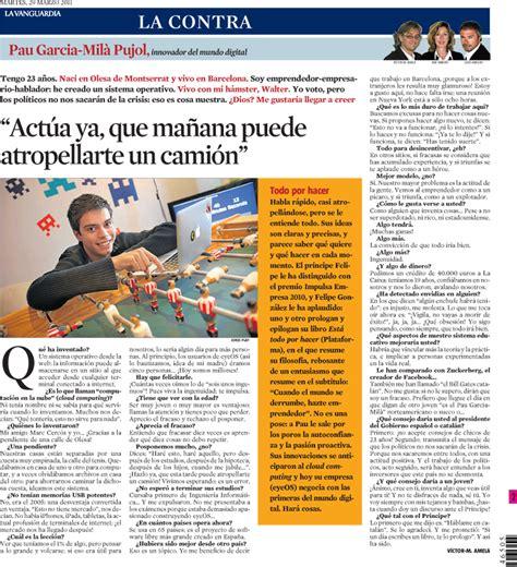 La Contra | La Vanguardia: Pau Garcia-Milà Pujol ...