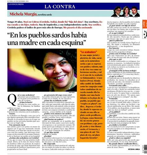 La Contra | Michela Murgia, novelista sarda: 'En los ...