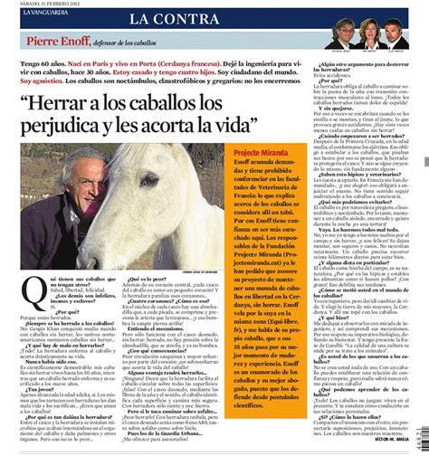 La Contra | Pierre Enoff, defensor de los caballos ...