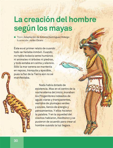La creación del hombre según los mayas - Español Lecturas ...