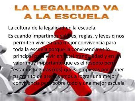 LA CULTURA DE LA LEGALIDAD Y EL ESTADO DE DERECHO - ppt ...