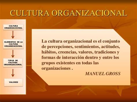 La cultura organizacional I