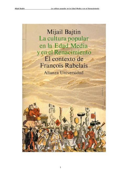 ,La cultura popular en la Edad Media y el Renacimiento by ...