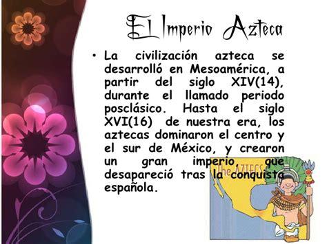 la Decadencia de los Aztecas