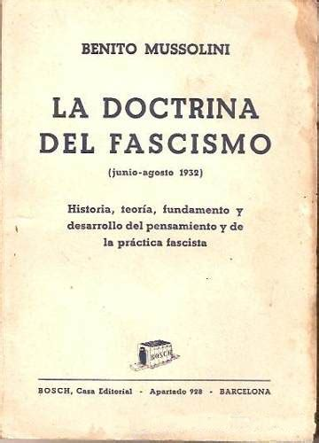 LA DOCTRINA DEL FASCISMO - MUSSOLINI BENITO - Sinopsis del ...