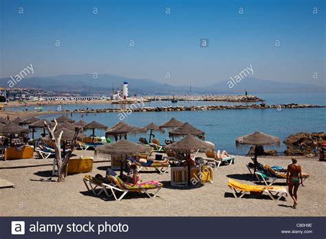 La Duquesa beach Manilva Malaga Andalusia Spain Stock ...
