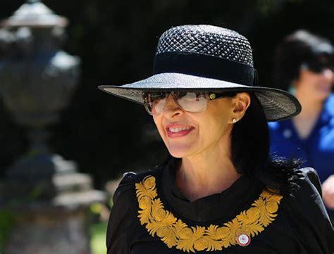 La elegante esposa del vicepresidente Moreno, en Chile ...