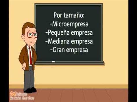 LA EMPRESA Y SU CLASIFICACION 1   YouTube