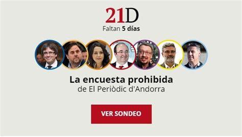 La encuesta prohibida de las elecciones en Cataluña: así ...