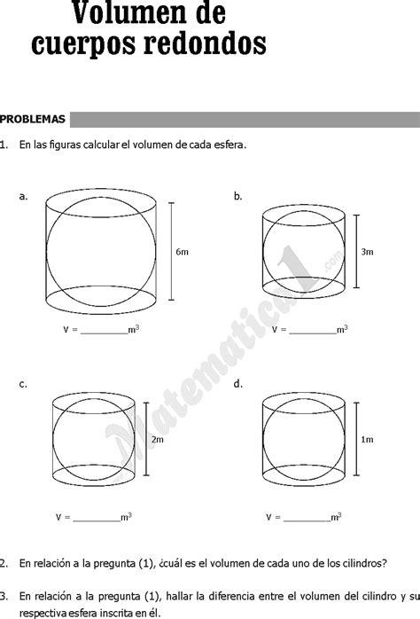 La esfera: área y volumen