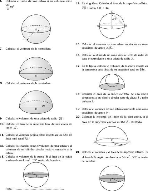 LA ESFERA EJERCICIOS RESUELTOS PDF