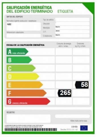 La etiqueta del certificado de eficiencia energética para ...