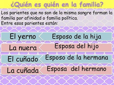 La familia y las clases de familia