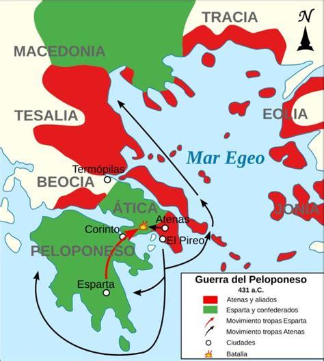 La Guerra del Peloponeso   Atenas vs Esparta ...