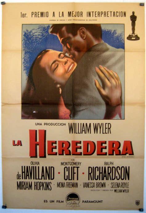 LA HEREDERA  MOVIE POSTER    THE HEIRESS  MOVIE POSTER