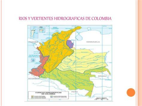 La hidrografía de Colombia